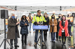 Governor Cuomo Announces School Street Grade Crossing Eliminated and Road Reopened