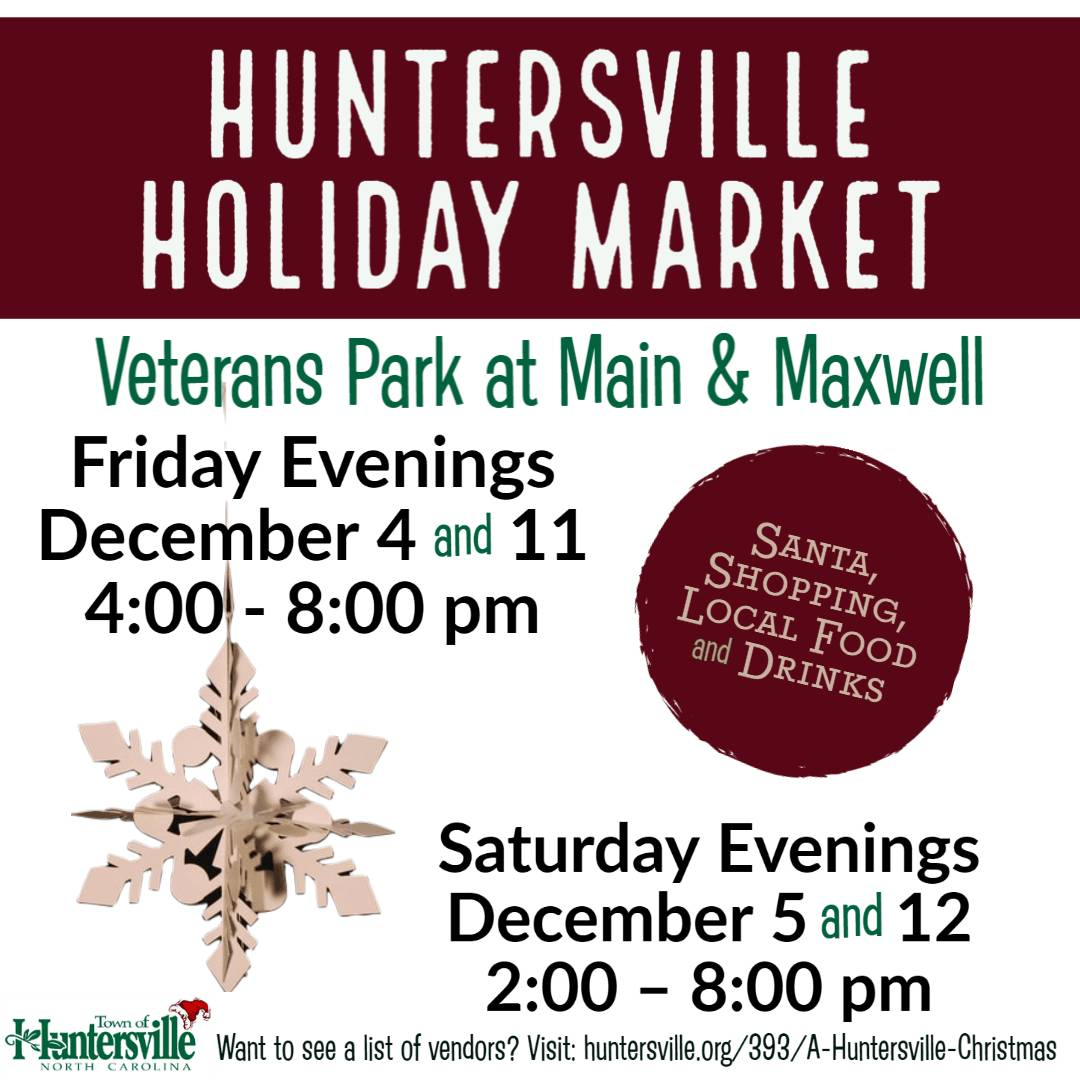 HUNTERSVILLE HOLIDAY MARKET