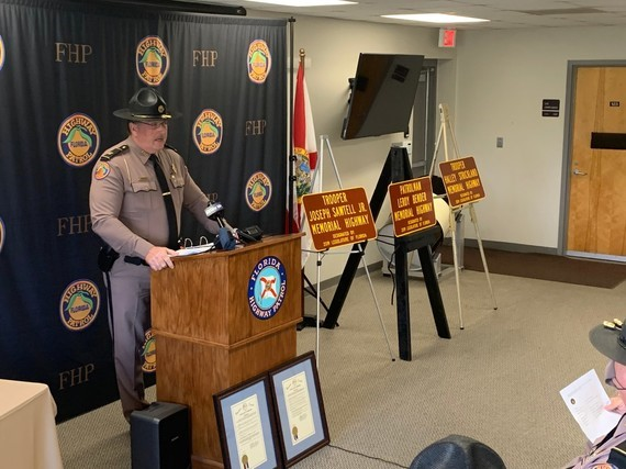 Three Florida Highway Patrol Troopers Receive Roadway Designations