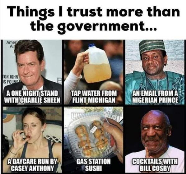 Things I Trust More Then The Government